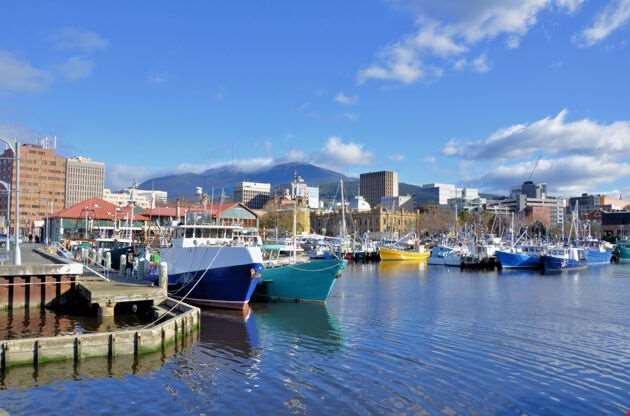 View Of Hobart Harbour-View Of Hobart Harbour