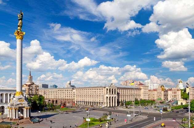 Independence Square Maidan Nezalezhnosti Kiev-Independence Square Maidan Nezalezhnosti Kiev
