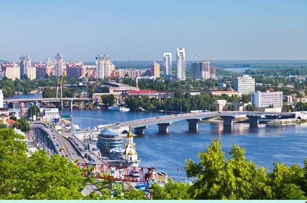 Kiev Cityscape And Dnieper River-Kiev Cityscape And Dnieper River