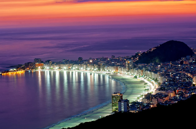 night-view-of-copacabana-beach-Night View of Copacabana Beach