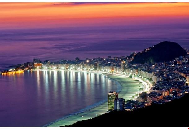 Night View of Copacabana Beach