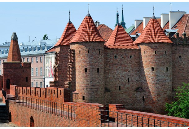 Barbican Fortified Medieval Outpost In Warsaw