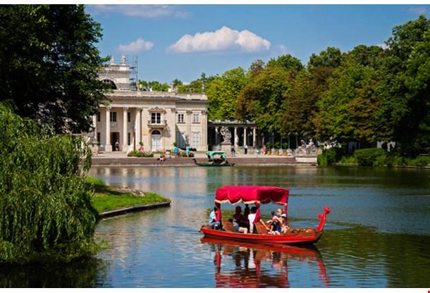 Lazienki, Royal Baths Park In Warsaw, Poland