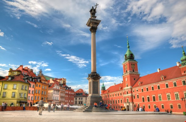 Royal Castle and Sigismund Column (Kolumna Zygmunta), Warsaw