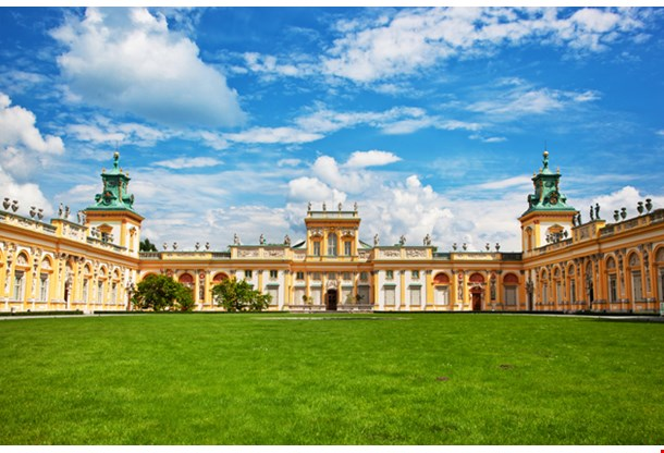 Royal Wilanow Palace In Warsaw Poland