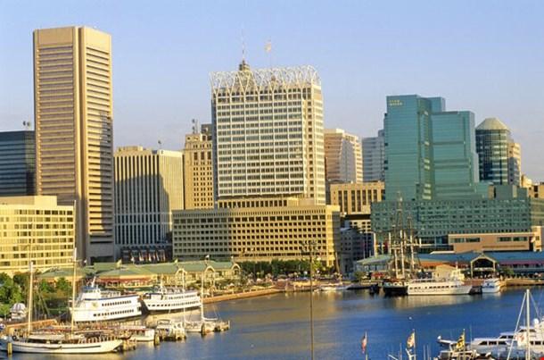 Skyline And Harbor Of Baltimore