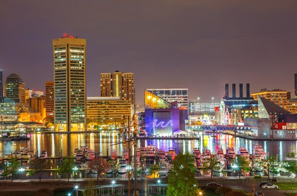 View On Downtown Of Baltimore