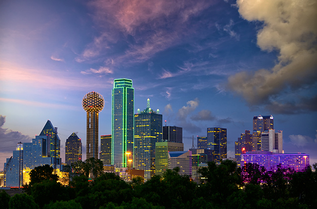 Dallas City Skyline At Twilight Texas Usa-Dallas City Skyline At Twilight Texas Usa