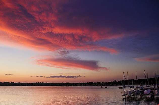 Sunset Over White Rock Lake Dallas Texas-Sunset Over White Rock Lake Dallas Texas