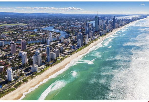 Aerial View Of Gold Coast Queensland Australia