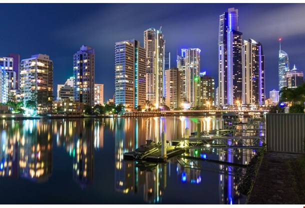 City At Night Gold Coast Queensland Australia