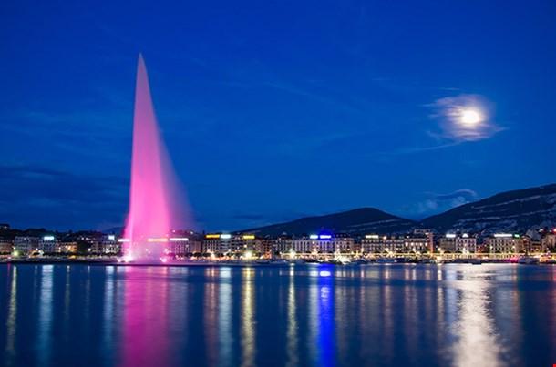 Moonlite Lake Geneva Switzerland