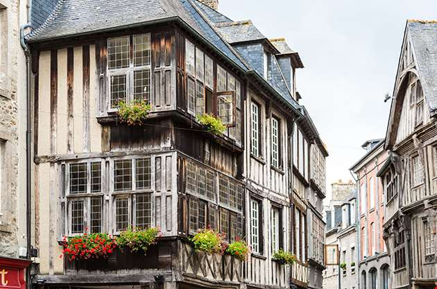 Typical House Timbered In Rennes French-Typical House Timbered In Rennes French