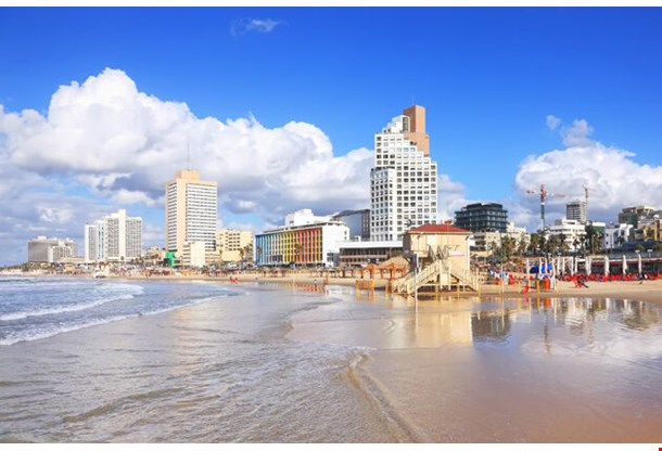 Panoramic View Of Tel Aviv Beach