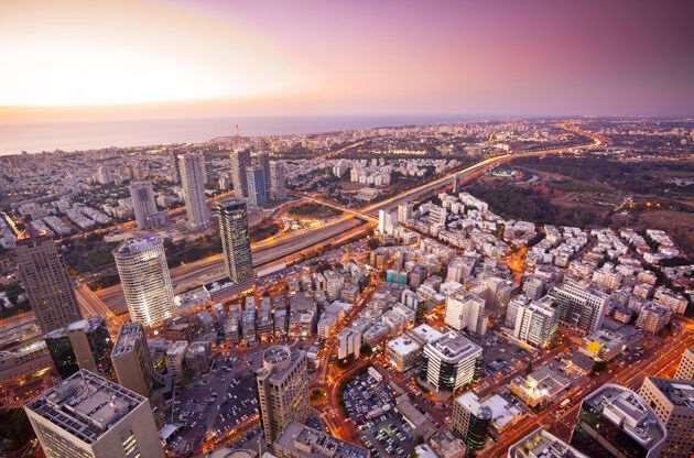 Tel Aviv At Sunset Ramat Gan Exchange District-Tel Aviv At Sunset Ramat Gan Exchange District