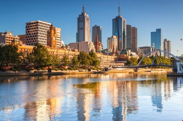 Melbourne Skyline Looking Towards Flinders Street