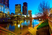 panoramic-view-of-melbourne-from-southbank-bridge-Panoramic View of Melbourne from Southbank Bridge
