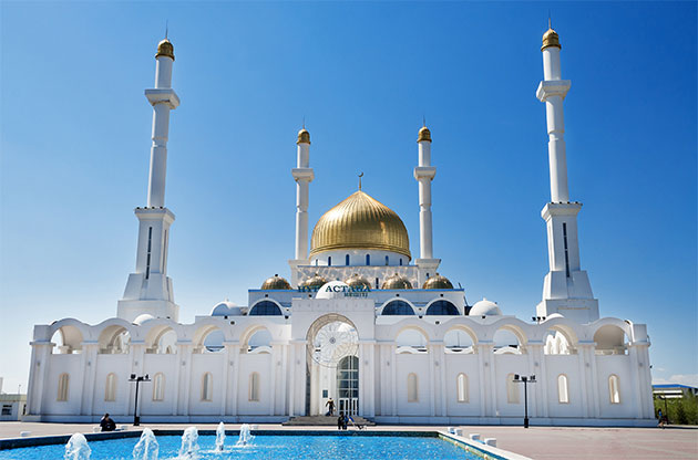 Nur Astana Mosque In Astana-Nur Astana Mosque In Astana