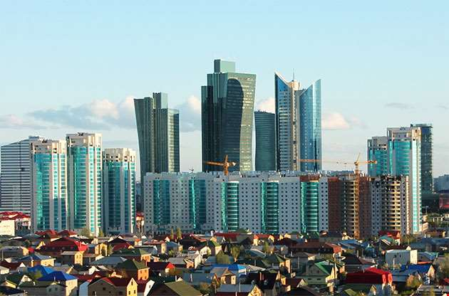 Skyline Of Astana City Of Expo 2017-Skyline Of Astana City Of Expo 2017