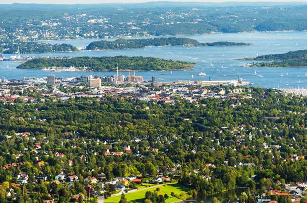 panorama-view-of-oslo-norway-Panorama View Of Oslo, Norway