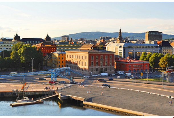 Skyline Of Oslo From The Opera House Norway