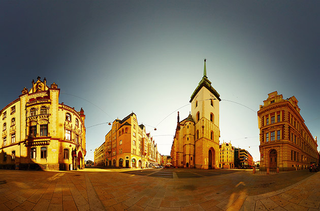 Panorama Of The City Center Of Brno At Evening-Panorama Of The City Center Of Brno At Evening