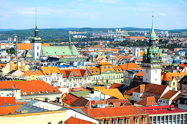 Skyline Of Brno City In The Sunny Day Czech Republic-Skyline Of Brno City In The Sunny Day Czech Republic