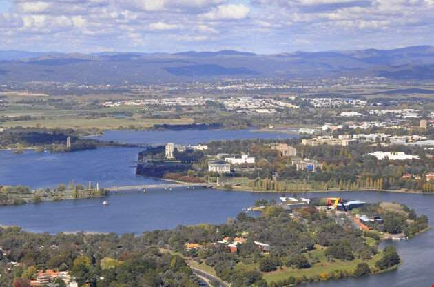 Aerial View Of Canberra-Aerial View Of Canberra