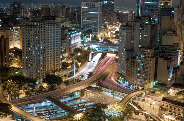 aerial-view-of-sao-saulo-city-center-Aerial View Of Sao Saulo City Center