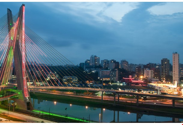 Most Famous Bridge in the Sao Paulo