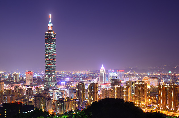 skyline-of-xinyi-district-in-downtown-taipei-Skyline Of Xinyi District In Downtown Taipei