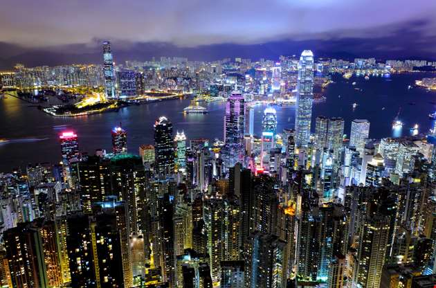 hong-kong-city-night-Hong Kong City Night