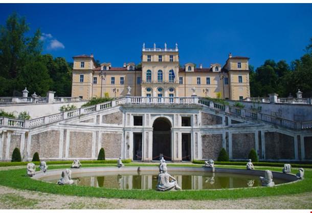 Facade And Fountain Of Villa Della Regina In Turin