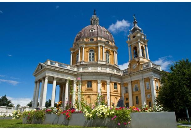 The Baroque Basilica Di Superga Church On The Turin Hill