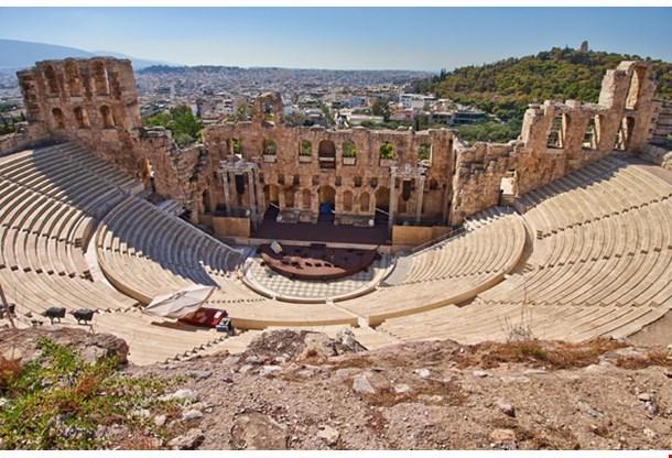 Ancient Theater Under Acropolis Athens