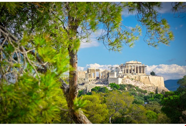 Beautiful View of Ancient Acropolis