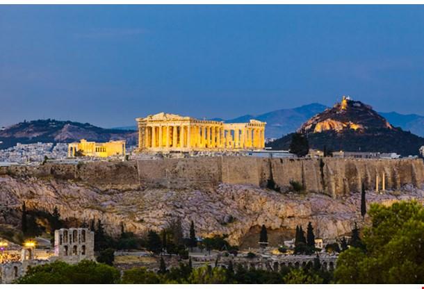 View on Acropolis Night Athens