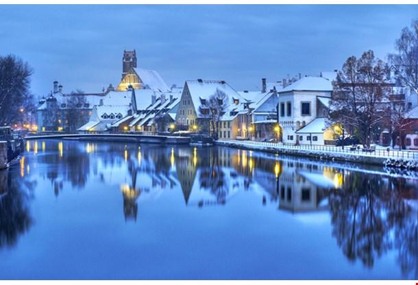 Christmas Winter Evening German Town