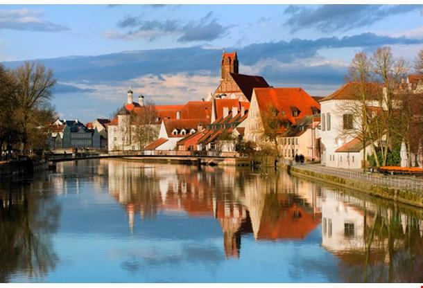 Old German Town By Munich