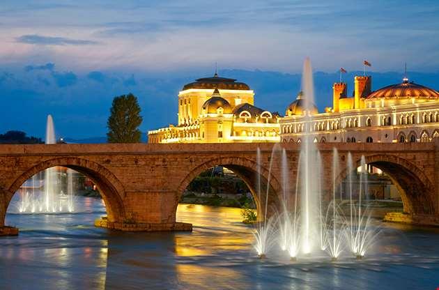 Macedonian S Capital City Skopje Old Stone Bridge-Macedonian S Capital City Skopje Old Stone Bridge