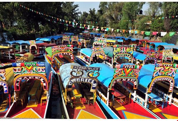 Colourful Mexican Gondolas