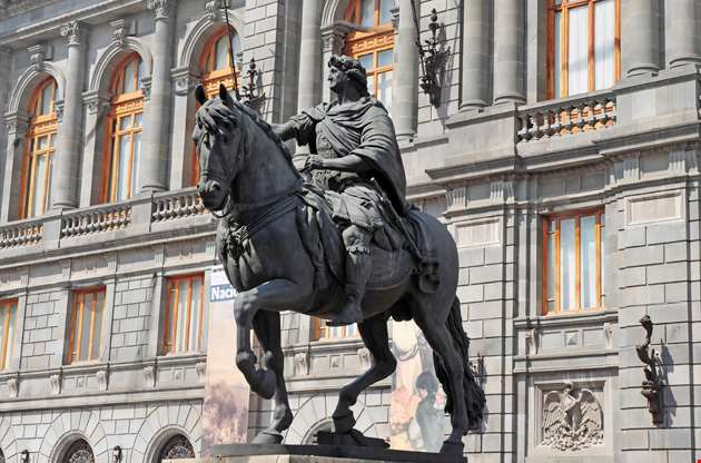 national-museum-of-art-and-statue-of-charles-iv-in-mexico-city-National Museum Of Art And Statue Of Charles Iv In Mexico City