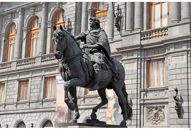 National Museum Of Art And Statue Of Charles Iv In Mexico City