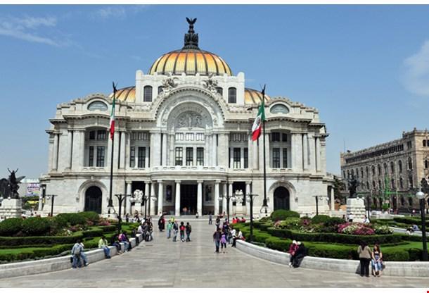 The Fine Arts Palace Palacio De Bellas Artes In Mexico City