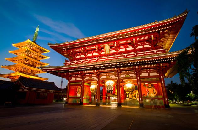 the-hozomon-gate-of-the-asakusa-temple-The Hozomon Gate Of The Asakusa Temple