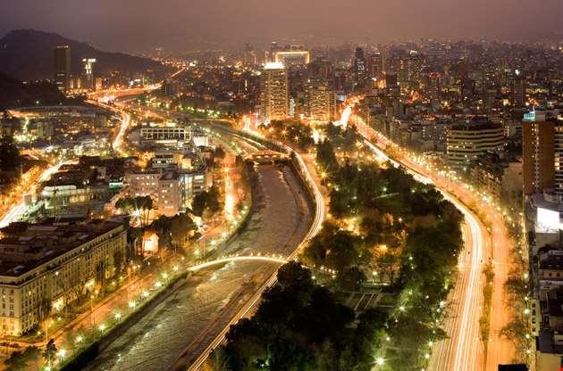 night-view-of-santiago-de-chile-Night View of Santiago De Chile