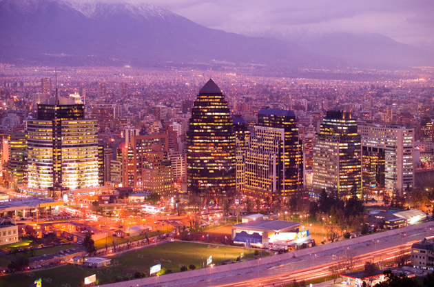 skyline-of-santiago-de-chile-Skyline of Santiago De Chile