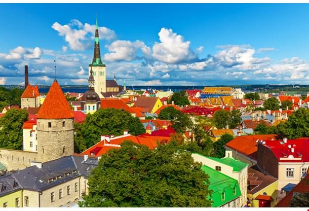 Aerial Panorama of Tallinn