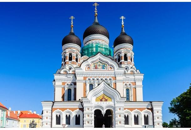 Alexander Nevsky Cathedral Blue Sky
