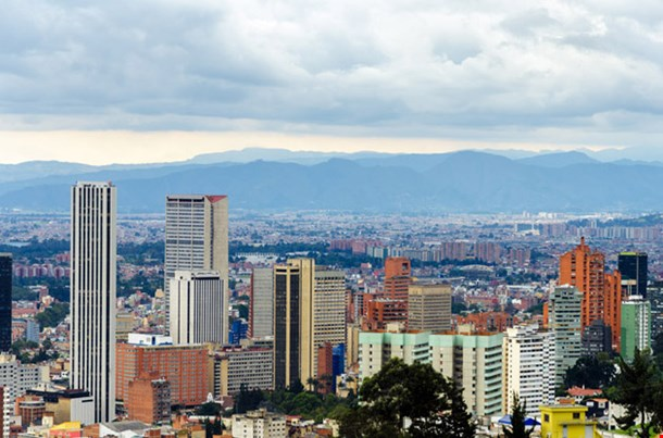 View of the Skyline of Bogota